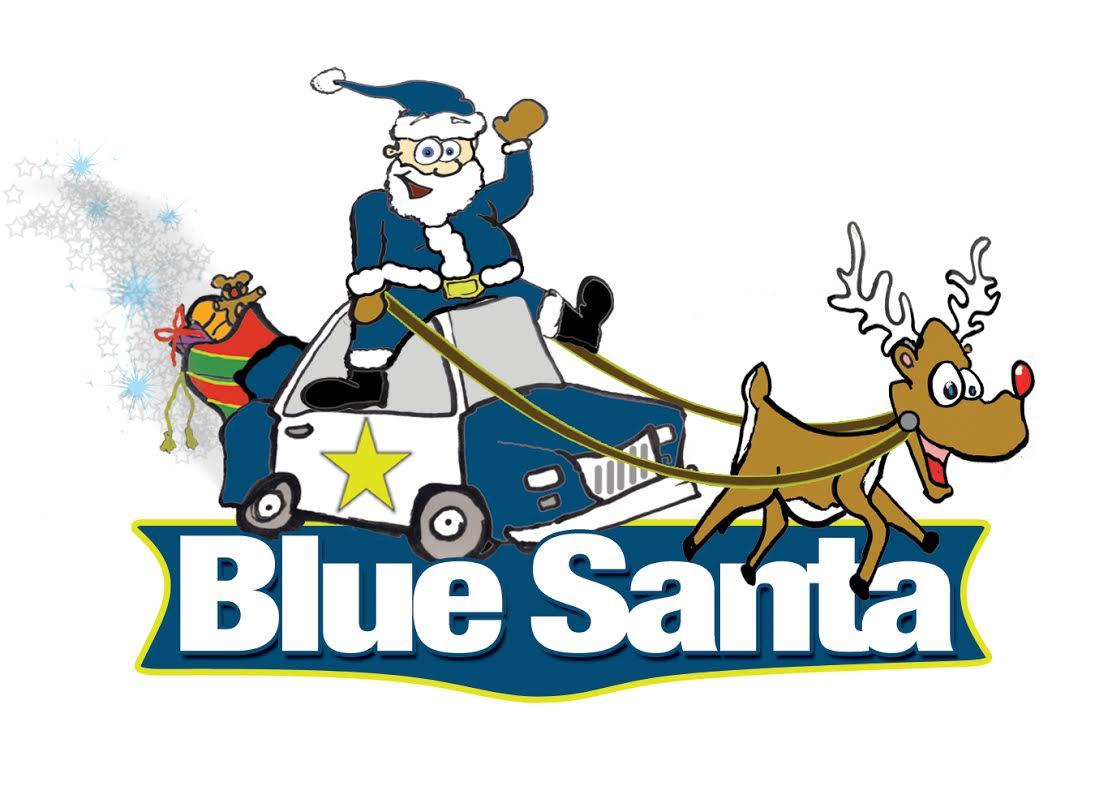 Image result for blue santa